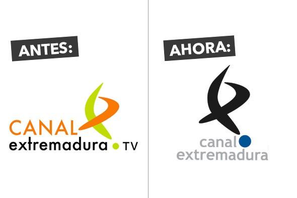 Anterior y nuevo logo de Canal Extremadura