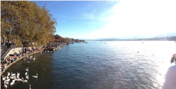 Un día cualquiera de primavera en el lago de Zúrich