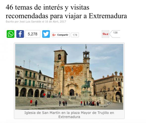 José Luis Sarralde nos recommanda los mejores lugares para visitar en Extremadura