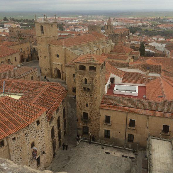 Vista de Cáceres dede las torres de la Iglesia de San Francisco Javier